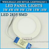 20pcs High brightness LED Panel Lights ceiling lighting 3W 4W 6W 2835SMD Cold white/warm white AC85-265v