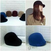 Fashion vintage woolen fashion cashmere equestrian cap knight cap dome gentlewomen hat autumn and winter