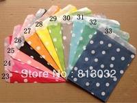 2013, New products for gifts! dots Paper Bags for gifts, 600 pcs/lot, 11 colors