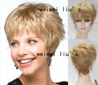Short Hairstyle Brazilian Hair wig Blonde Hair Wig  free shipping