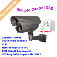 2013 Top Rated 1/3 Sony CCD 700TVL Array IR LED Security Camera Outdoor Surveillance Camera  With Bracket Free Shipping