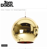 Indoor lighting Tom Dixon Bronze  Shade dia35cm pendant lamp for dining room living room+Free shipping