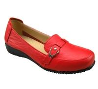 Plus size nurse women's shoes casual shoes flat mother shoes soft cow muscle single shoes 2119