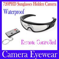 Free shipping Camera eyewear DV78B Remote 720P support TF card Sport Skiing HD waterproof Sunglasses with Hidden Camera , MOQ=1