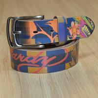 Female belt fashion pin buckle belt male belt colorful strap first layer of cowhide male women belt