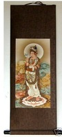 collecting Chinese painting scroll of Kwan-yin free shipping