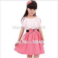 2014 Korean version of the new princess chiffon short sleeve dot dress