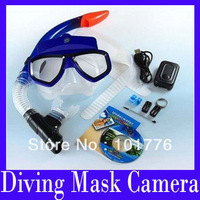 EMS Free shipping Scuba Diving Mask HD 1280x960 Camcorder and Snorkel Sport DVR Glasses Camera Built-in 4GB Retail box ,5pcs/lot