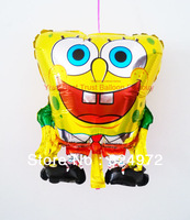 Free Shipping Happy Birthday gifts large toy spongebob party supplies balloon for kids birthday