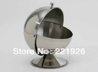 Stainless Steel Spherical Sugar Bowl Condiment Seasoning Bottle Taste Cup Spice Jar Sugar Salt Tank Thickening