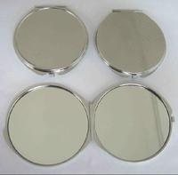 Wholesale 20pcs 70MM Blank DIY Compact Mirror DIY Portable Metal cosmetic mirror Silver -Free Shipping