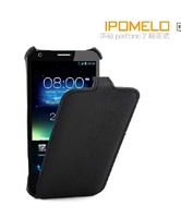 NEWEST Black Flip PU Leather Pouch Case Cover for ASUS PADFONE 2 Cell Phone