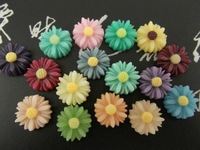 13mm Chrysanthemum Resin Cabochon Flatback for Phone Jewelry Accessories, Wholesale 500pcs/lot Ornament Joyas Adorno Accesorios