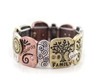 Pulseira Pulseiras Cuff Bracelets New Letters Alloy Elastic Bracelet Fashion Brand Name Health Bulk Lot Jewelry Free Shipping