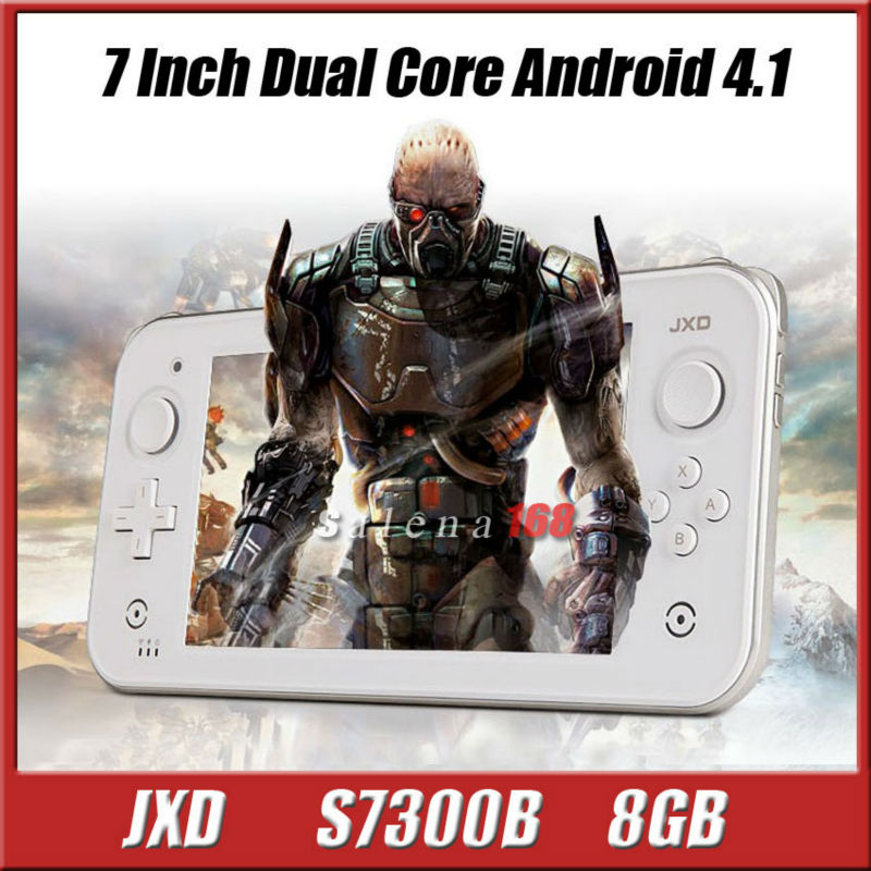Factory price Brand JXD S7300B 8GB Dual core handle game console Android 4.1 Capacity game player console pvp game console(China (Mainland))