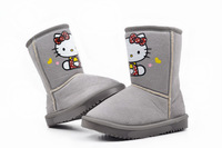 New 2013 Retail!size:25-30/2Color Winter Boots Kids/ Baby Shoes/ Boots kids for Hello kitty Winter boots kids