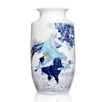 Ceramics full blue and white porcelain flower female quality home decoration