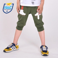 Male child shorts summer 2013 child trousers children's clothing casual knee-length pants thin 100% cotton capris