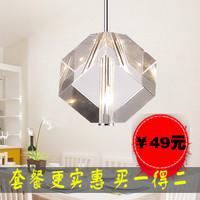 Modern brief single head crystal pendant light living room lamps lighting lamp fashion crystal pendant light