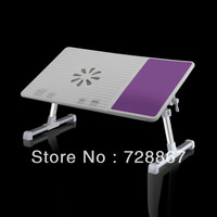 folding portable laptop tablet laptop desk with USB fan adjustable aluminum angle adjustable height new fashion notebook desk