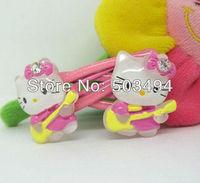 Hotsale! Hello Kitty hairpin Cartoon hairpin Lovely elastic band Gift headwear Free shipping 3 styles