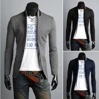 2014 Autumn New Fashion Style Free Shipping Blazer Men Slim Top design Black suit Blazers Fashion Coat Jacket
