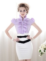 Free Shipping Summer Lady's Fashion Empire Waist Stretchy Mid-length Pencil Skirt