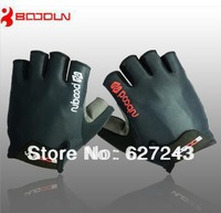 BOODUN half Finger Outdoor  Men Gloves Breathe freely   Non-slip BLACK