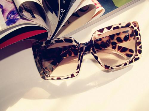 Fashion anti-uv glasses sun glasses vintage square sunglasses leopard print star style(China (Mainland))