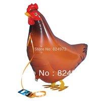 whosale 10pcs/lot Walking My Own Pet Chicken Farm Animal  Edition Mylar Balloon walking balloons free shipping