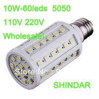 10W E27 B22 E14 60 LED Cool White warm white 5050 SMD Energy Saving Corn Light Lamp Bulb 110Vor 220V