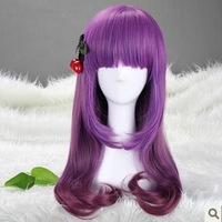 Cosplay wig female HARAJUKU wig purple gradient color wig lolita wig kinkiness