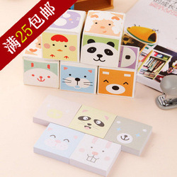Korea stationery animal magic cube box memo pad note pad 3.8 box 5 book(China (Mainland))
