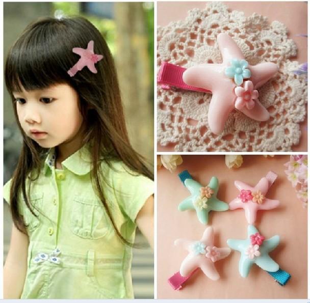 Freeshipping! New Large starfish Hairclips / cute baby Hairpins / Hair Accessories / fashion / Wholesale(China (Mainland))