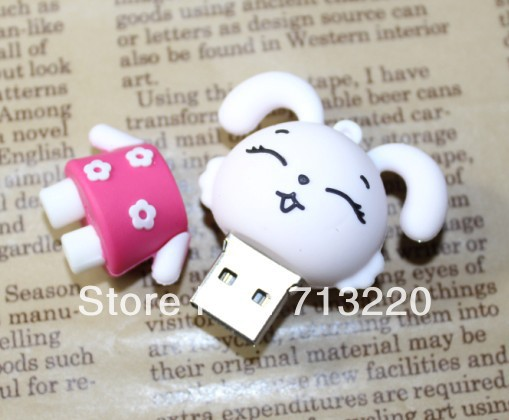 USB Memory Flash Drive loverly rabbit cartoon pendrive1GB 2GB 4GB 8GB 16GB 32GB for Choices Free Shipping USB gift(China (Mainland))