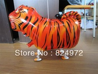 whosale 10pcs/lot Walking My Own Pet tiger Foil Balloon Mylar Balloon walking balloons free shipping