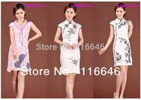 new girl women chinese traditional clothing cheongsams Qipao chipau mandarin gown prom evening dress free shipping