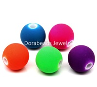 Free Shipping! Acrylic Matte Spacer Beads Round Mixed 10mm Dia,200PCs(B22819)