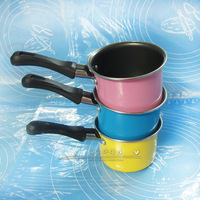 Multicolour 4 mini chocolate pot small milk pot enamel saucepan exquisite saucepan