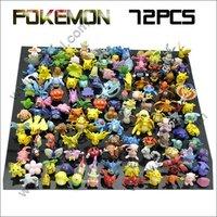 2013 HOT Brand New Cute Lots 72pcs Pokemon mini random Pea free shipping