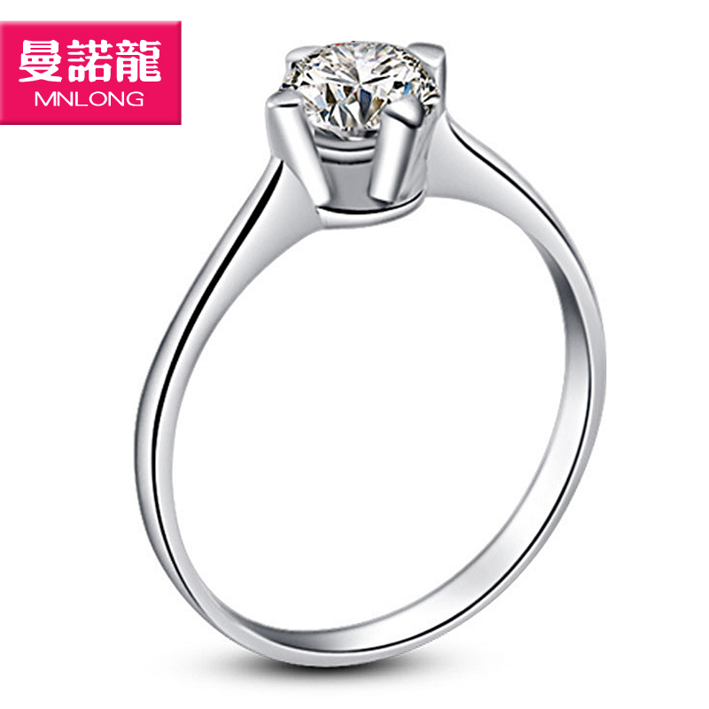 Free shipping Quality ! 925 pure silver jewelry perfect hearts and arrows cubic zircon stone brief women's ring(China (Mainland))