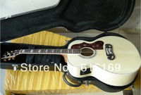2013 Custom Shop Hot Selling Dot Spruce Beige SJ200 6 Strings Electric Acoustic Guitar With Fisherman Pickups Free Shipping