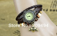 Newest Arrival Woman Wristwatch Leather Band With Flying Heart  Bracelet  Watch Antique Quartz  Beautiful Watch  Free Shipping