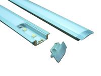 Aluminum Profile for LED Ligting, super slim 8 mm recessed aluminium LED profile with flange