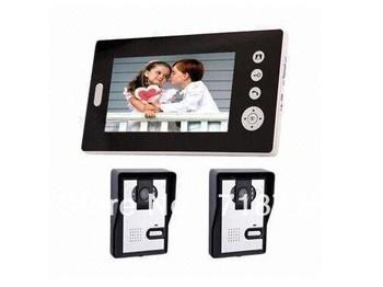 "7"" Full Color LCD Screen Video Doorphone Intercom  door phone Doorphone Night Version Intercom"