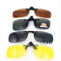 Free Shipping 10pcs/lot Black Color Women Men Sunglasses Easy Clip On polarized lens Flip up Eyewear sunglasses 10PCS/Lot