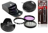 6 in1 67 67mm Series 1 Filter Kit UV CPL FLD+ Lens Hood + Cap+ LENSPEN LP-1 Lens Cleaning Pen