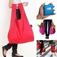 Free Shipping Japan BAGGU square pocket Shopping bag, 1pc Candy Colors Reusable Eco-friendly reusable folding handle Bag BG42