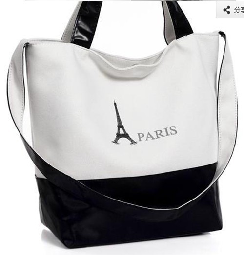 Eiffel Tower Bag Hot Deals neutral canvas bag canvas bag diagonal handbags wholesale baigou(China (Mainland))