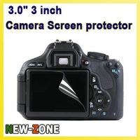 "Free Shipping 3PCS Camera  LCD Screen Protector  3.0"" 3 inch Universal Screen Protector  for Canon Nikon Sony Ultra Clear"